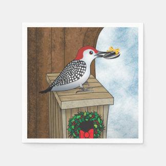Vogel-Haus-Feiertag Papierserviette