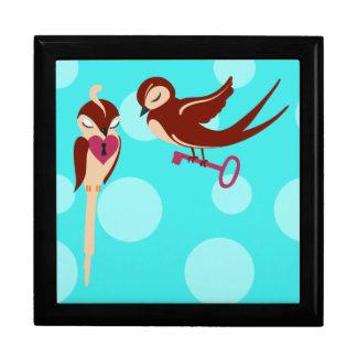 Vögel im Liebe-Schlüssel zu meinem Herzen Erinnerungskiste