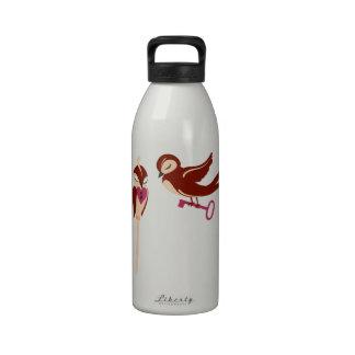 Vögel im Liebe-Schlüssel zu meinem Herzen Wasserflasche