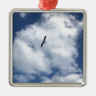 Vögel in den Wolken Silbernes Ornament
