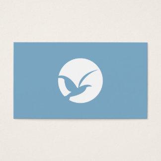 VOGEL IN KREIS-LOGO (BLAUER) Visitenkarte