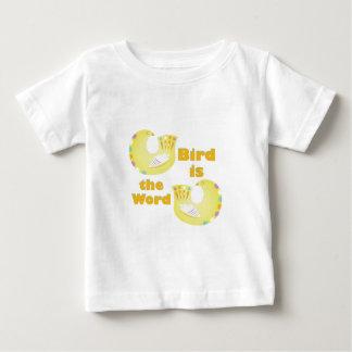Vogel ist Wort Baby T-shirt