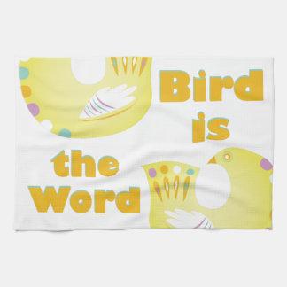 Vogel ist Wort Geschirrtuch