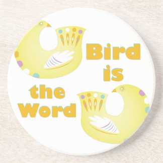 Vogel ist Wort Sandstein Untersetzer