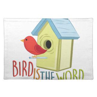 Vogel ist Wort Tischset