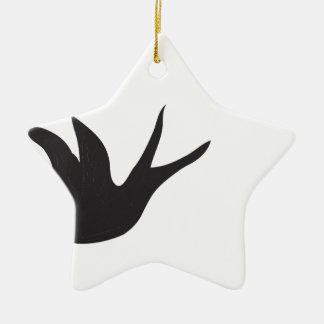 Vogel Keramik Stern-Ornament