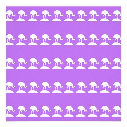 Vögel kopieren, purpurrot einladungskarte