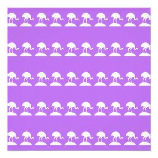 Vögel kopieren purpurrot einladungskarte