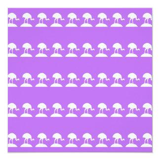 Vögel kopieren, purpurrot quadratische 13,3 cm einladungskarte