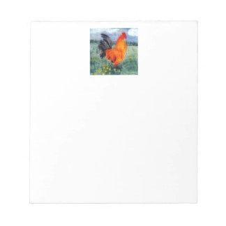 Vogel-Kunst-Hahn-Huhn Notizblock
