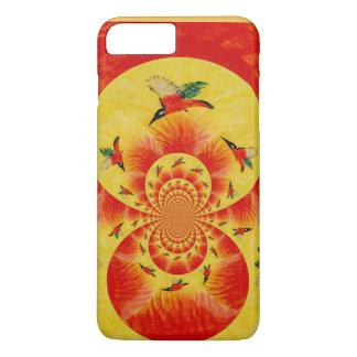 Vogel-Kunst-Sonnenuntergang-Eisvögel iPhone 8 Plus/7 Plus Hülle
