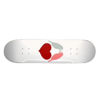 Vogel-Liebeherzen Bedrucktes Skateboard