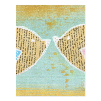 Vögel, Liebevögel, 2 kleine niedliche Vögel Postkarte