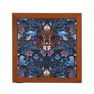 Vogel-Luxmuster des Vintagen Luxusblumengartens Stifthalter