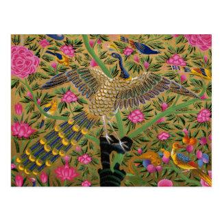 Vogel mit der hundert Augen-Postkarte Postkarte
