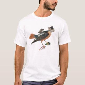 Vogel mit russischem Wodka und weniger Atombombe T-Shirt
