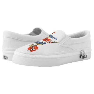 Vogel-Motiv-Beleg an Slip-On Sneaker
