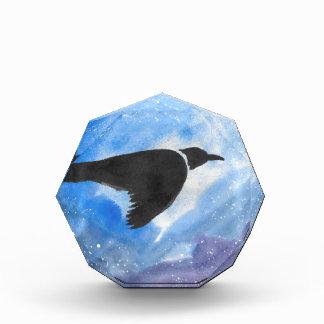 Vogel nachts acryl auszeichnung