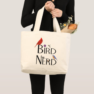 Vogel-Nerd-Entwurf Jumbo Stoffbeutel