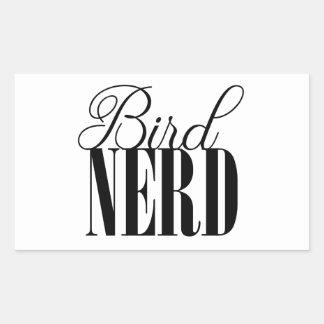 Vogel-Nerd Rechteckiger Aufkleber