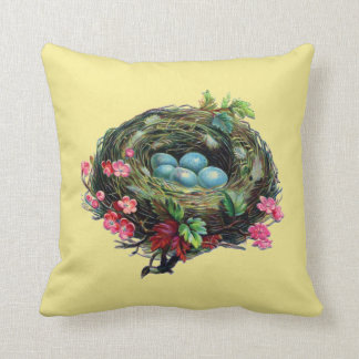 Vogel-Nest-Akzent-Kissen Kissen