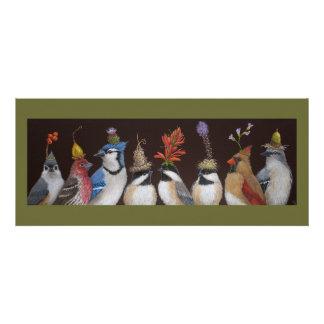 Vogel-Party auf flacher Karte #10 Einladungskarte
