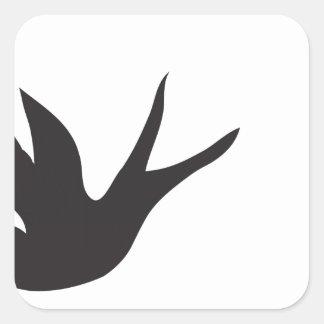 Vogel Quadratischer Aufkleber