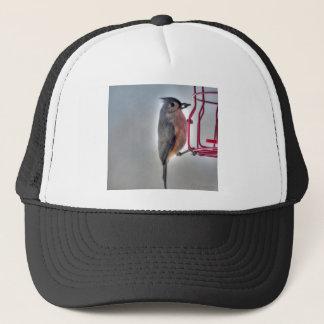Vogel-Samen im Mund-Profil Truckerkappe