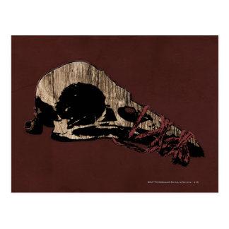 Vogel-Schädel Postkarte