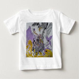 Vogel-Schlangen-und Frauen-Entwurf Baby T-shirt