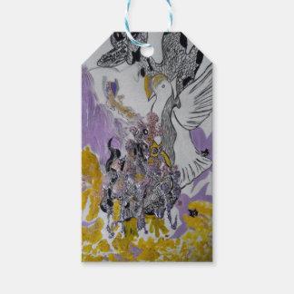 Vogel-Schlangen-und Frauen-Entwurf Geschenkanhänger