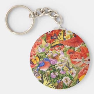 Vögel, Schmetterlinge und Bienen Keychain Schlüsselanhänger