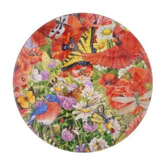Vögel, Schmetterlinge und Bienen Schneidebrett