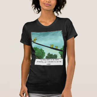 Vogel schnitt das Kabel T-Shirt