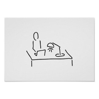 Vogel Strauss mit Kopf in Sand Poster