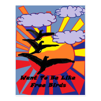 Vogel-Thema Postkarte