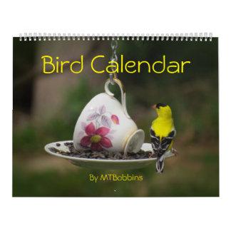 Vögel tragen mit großen Zahlen ein Abreißkalender