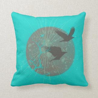 Vögel u. Mond-Grafikdesign Kissen