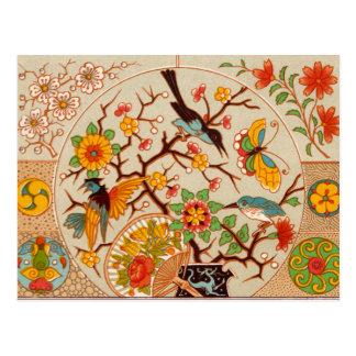 Vögel u. Schmetterlings-Postkarte Postkarte