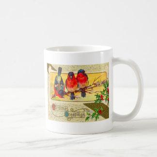 Vögel u. Stechpalme Kaffeetasse