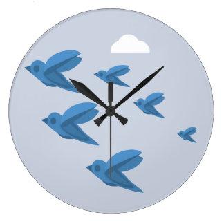 Vogel-Uhr Große Wanduhr