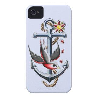 Vogel-und Anker-Tätowierungs-Kunst iPhone 4 Cover