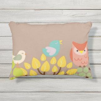 Vögel und Baumkissen Kissen Für Draußen
