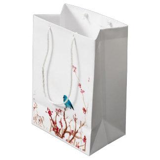 Vogel-und Beeren-mittlere Mittlere Geschenktüte
