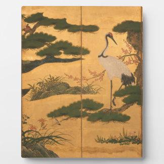 Vögel und Blumen der vier Jahreszeiten Fotoplatte