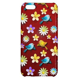 Vögel und Blumen Hülle Für iPhone 5C
