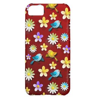 Vögel und Blumen iPhone 5C Hülle