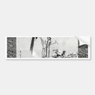 Vögel und Blumen - Japaneredo-Zeitraum Autoaufkleber
