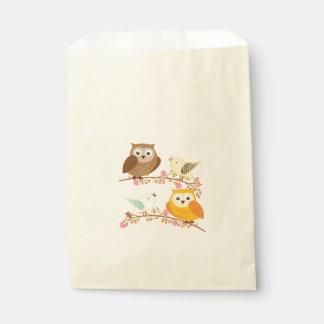 Vögel und Eulen Geschenktütchen