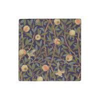 Vogel-und Granatapfel-Vintages Blumen Williams
